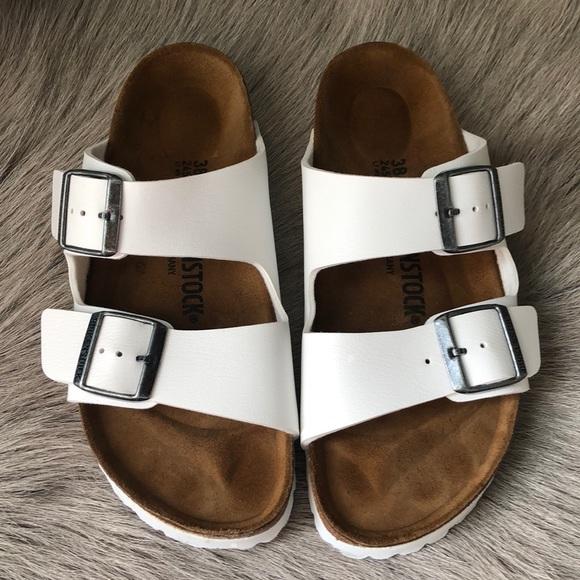 73e43a09e309 Birkenstock Shoes - Birkenstock White Arizona Sandals 38 Narrow